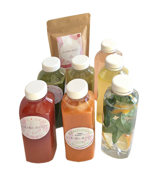 Bikinibody soup, juices and Teatox package