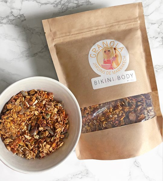 "Bikinibody Granola ""Jardins de Marrakech"" well balanced."