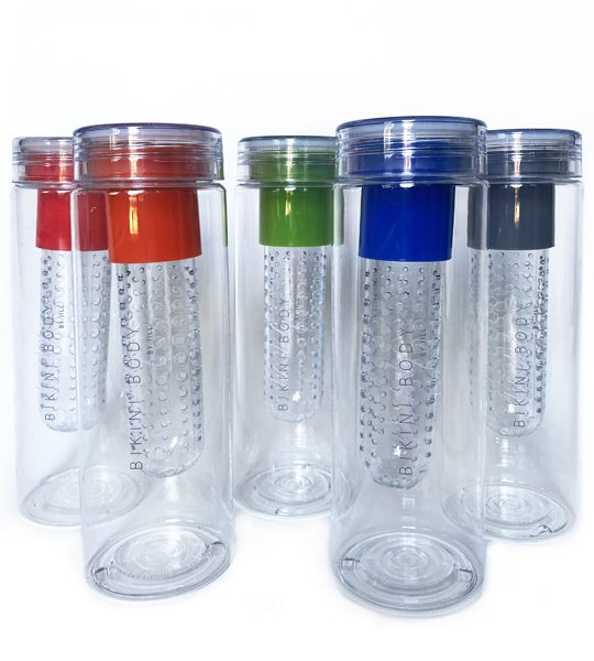 Bikinibody drinking bottle with fruit infuser. Many different colours.