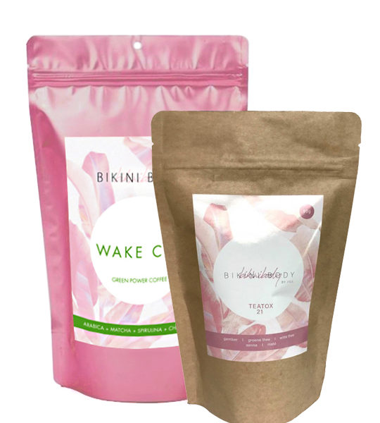 Bikinibody Teatox of your choice and WakeCup koffie, a powerful duo for your bikinibody!